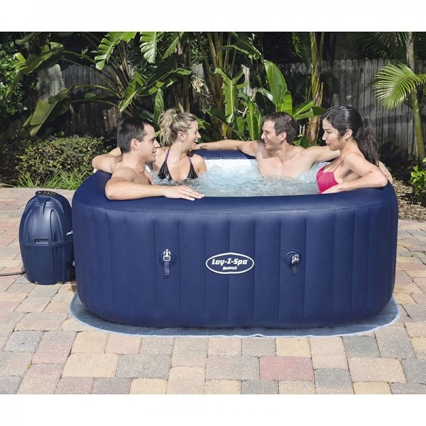 BESTWAY 54154 Lay-Z-Spa Carré Hawaii AirJet 4/6 places_04