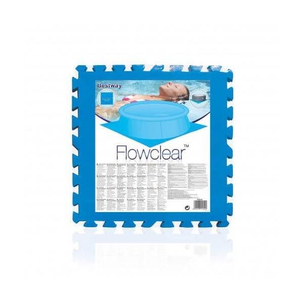 BESTWAY 14352 Lay-Z-Spa Lot de tapis de sol de protection bleu_01
