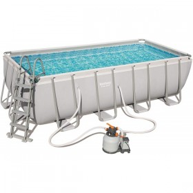 BESTWAY 56671 Kit Piscine Rectangulaire Power Steel 488 cm x 244 cm x 122 cm filtre à sable_01