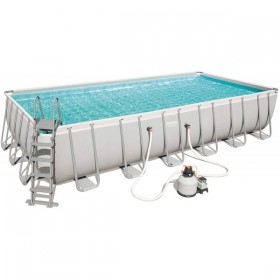 BESTWAY 56475 Kit Piscine Rectangulaire Power Steel 732 cm x 366 cm x 132 cm filtre à sable_01