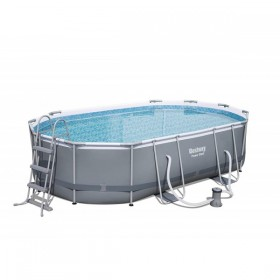 BESTWAY 56448 Kit Piscine Ovale Power Steel 488 cm x 305 cm x 107 cm_01