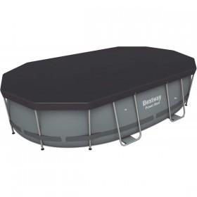 BESTWAY 58425 Bâche 4 saisons pour piscine Power Frame Pool Ovale 424 x 250 175 grs/m2_01