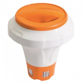 BESTWAY 58474-ORANGE Flotteur chimique avec gant de protection CHEMGUARD Orange_01
