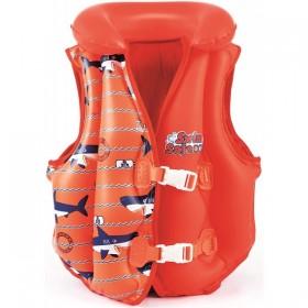 BESTWAY 32156-REQUIN Gilet de natation doublûre tissus M/L Décors Requin_01