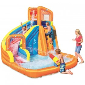 BESTWAY 53301 Méga aire de jeux Turbo Splash Water Zone à air constant 365 cm x 320 cm x 270 cm_01