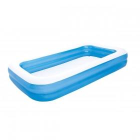 BESTWAY 54009 Piscine rectangulaire familliale De Luxe  Bleu 305 cm x 183 cm x 56 cm_01