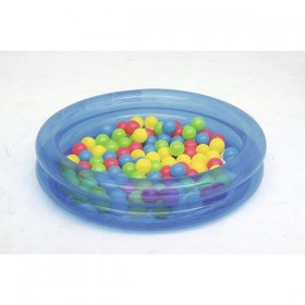 BESTWAY 51085-BLEU Piscine à balles Bleu 91 cm x 20 cm avec 50 balles_01