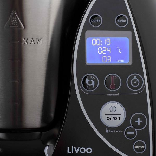 LIVOO DOP142N Robot culinaire chauffant noir 02