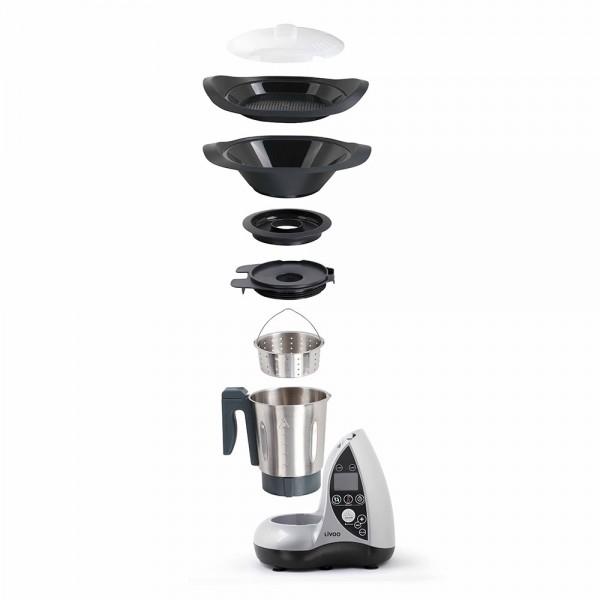 LIVOO DOP142G Robot culinaire chauffant gris 03