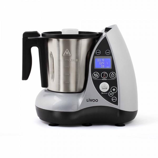 LIVOO DOP142G Robot culinaire chauffant gris 01