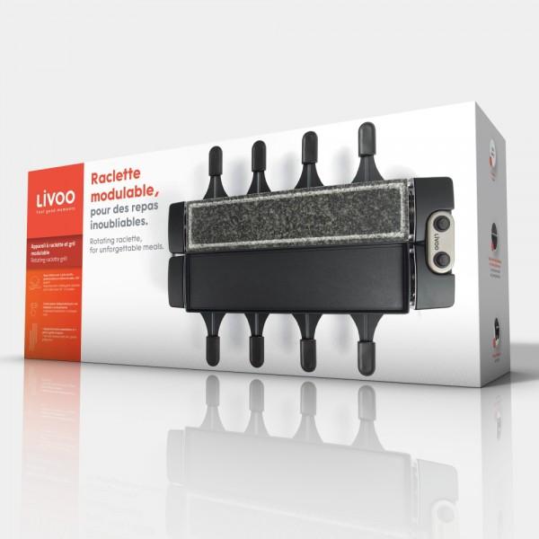 LIVOO DOC 220 Appareil à raclette et gril modulable - 04