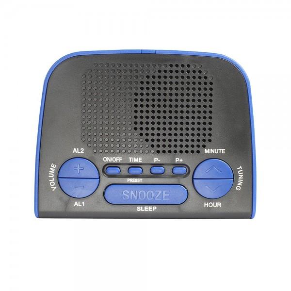 LIVOO AR314B Radio réveil PLL bleu