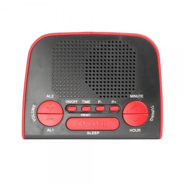 LIVOO AR314R Radio réveil PLL rouge CLIPSONIC