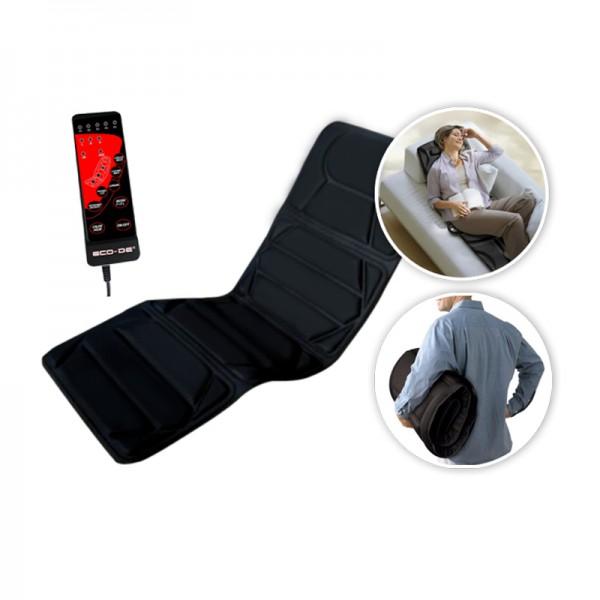 ECO-DE ECO-920 Tapis de massage avec 8 vibromoteurs et chaleur lombaire