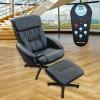 """ECO-DE ECO-739N  Chaise de massage avec pouf  """"VENICE"""" Noir"""