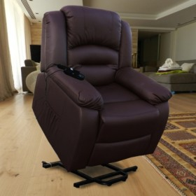 ECO-DE ECO-8198UP Fauteuil releveur massant marron Elevador Maximum Plus