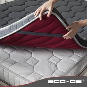 ECO-DE ECO-E4TM Sur-Matelas avec massage Topper Technocool 4D