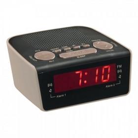 LIVOO AR314G Radio réveil PLL gris CLIPSONIC