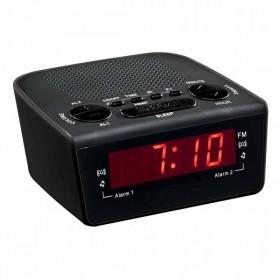 LIVOO AR314N Radio réveil FM noir CLIPSONIC